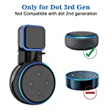 SPORTLINK Outlet Wall Mount Hanger Holder Stand for Echo Dot 3rd Gen, Hides The Original Long Cord, Compact Holder Case Plug in Kitchen, Bathroom and Bedroom