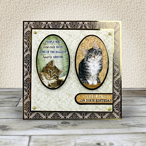 Hunkydory Crafts Paws For Thought Luxury Card Kit Cats and Kittens
