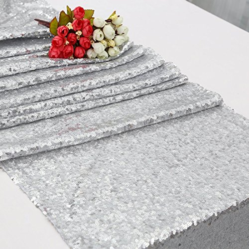"""B-COOL Durable Sequin Runners Silver 14"""" by 80"""" Sequin for sale  Delivered anywhere in Canada"""