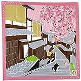FUROSHIKI- Japanese Wrapping Cloth (Travelling-cat : SAKURA)