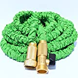 TRIPLE LAYER LATEX CORE, 50-FT Expandable Garden Hose, Strong Brass Connectors (Not Plastic), 100% Customer Satisfaction Warranty - 50 FT