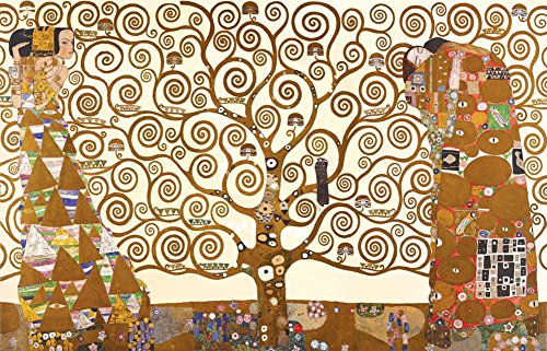 Laminated Gustav Klimt - The Tree Of Life Poster 36 x 24in