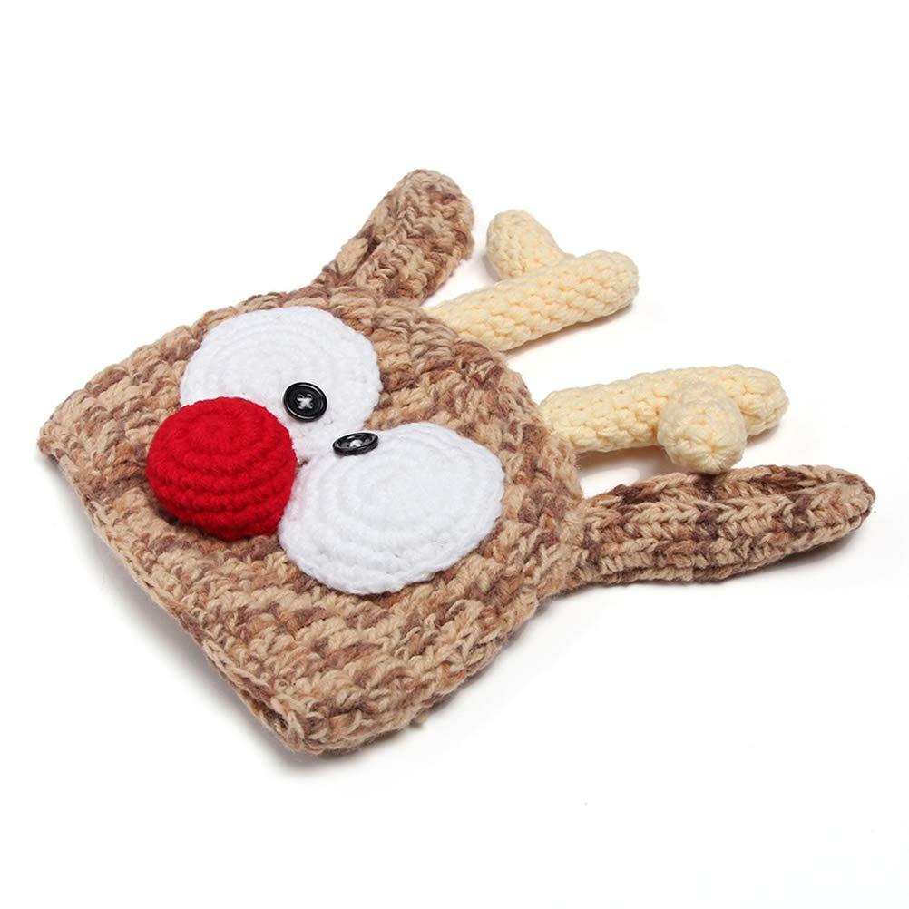 Gorro de Punto para reci/én Nacidos BovoYa para beb/é Gorro de Ganchillo Sombrero de fotograf/ía Halloween 19 x 19 cm Navidad Regalo Sombrero de Navidad