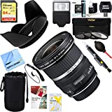 Canon (9518A002) EF-S 10-22mm F/3.5-4.5 USM Lens + 64GB Ultimate Filter & Flash Photography Bundle