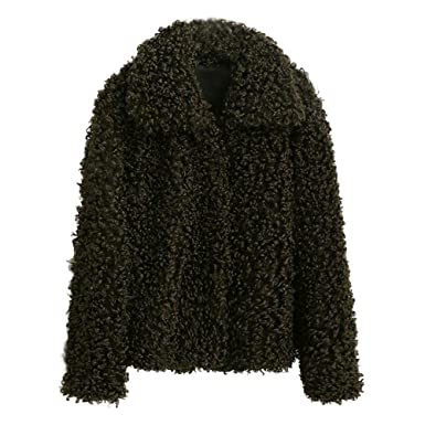 TianWlio Damen Mäntel Frauen Winter Warm Dicken Mantel Solid Mantel Mantel  Jacke Strickjacke Mantel c369db9b41