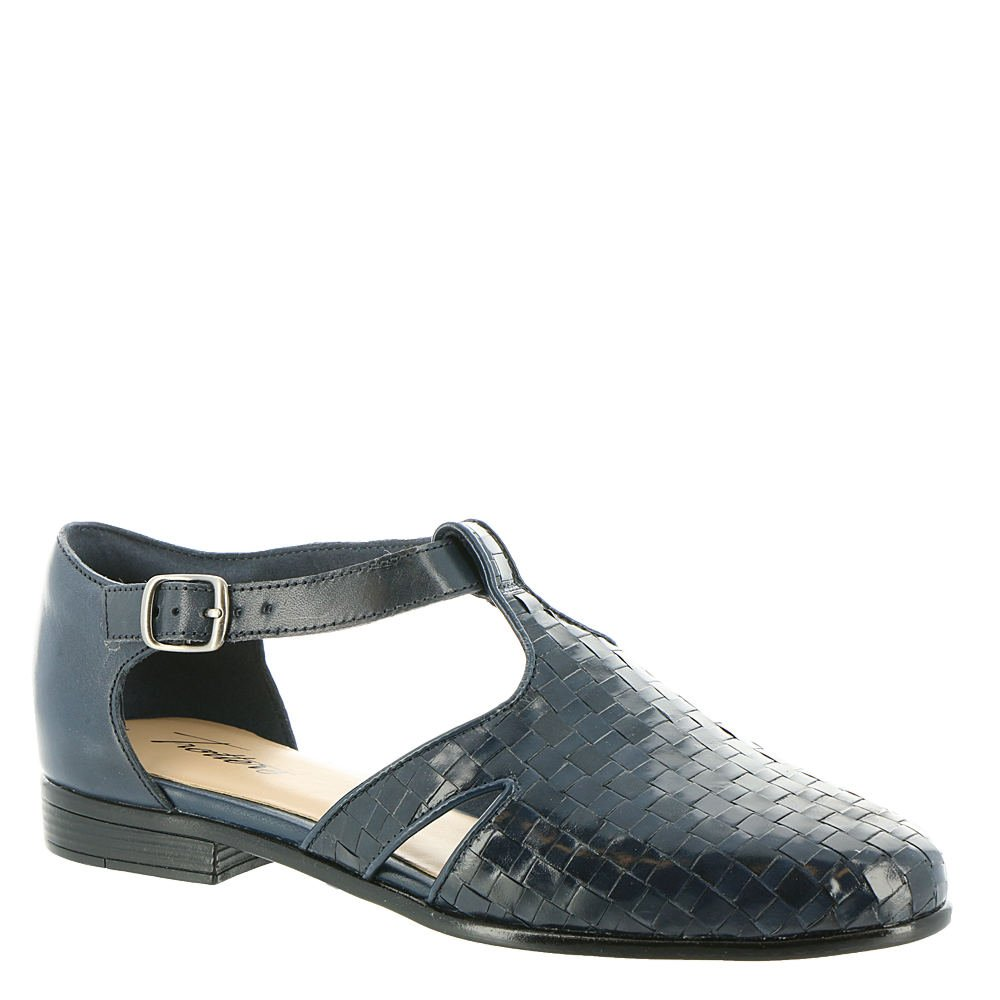 Trotters Leatha Women's Slip On B078XKMCVR 6 2A(N) US|Navy