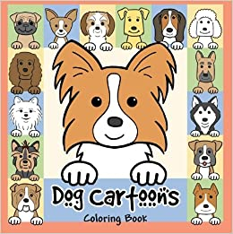 Dog Cartoons Coloring Book Anita Valle 9781438297842 Amazon Books