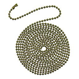 Westinghouse 7710900 12\' Beaded Chain with Connector and Antique Brass Finish