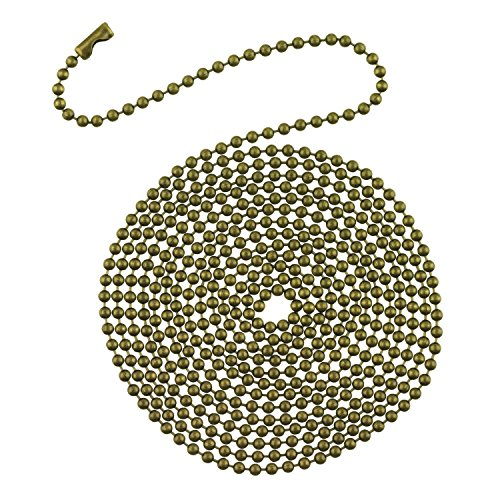 Westinghouse Lighting 7710900 12' Beaded Chain with Connector and Antique Brass Finish