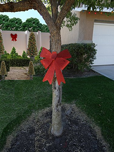 Decorative Holiday Red Bow from Love it Products 9.84 inch x 14.96 inches
