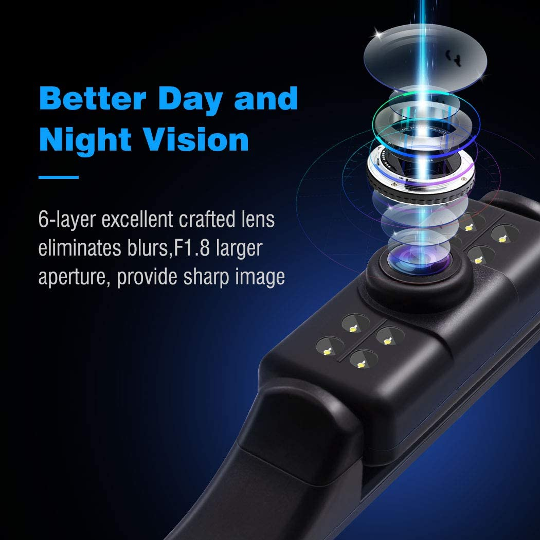 Backup Camera System Kit,4.3 Monitor IP68 Waterproof Car Rear View Camera 7LED Light Night Vision HD Back Up Camera for Car//SUV//Taxi//Mini Pickup Accfly