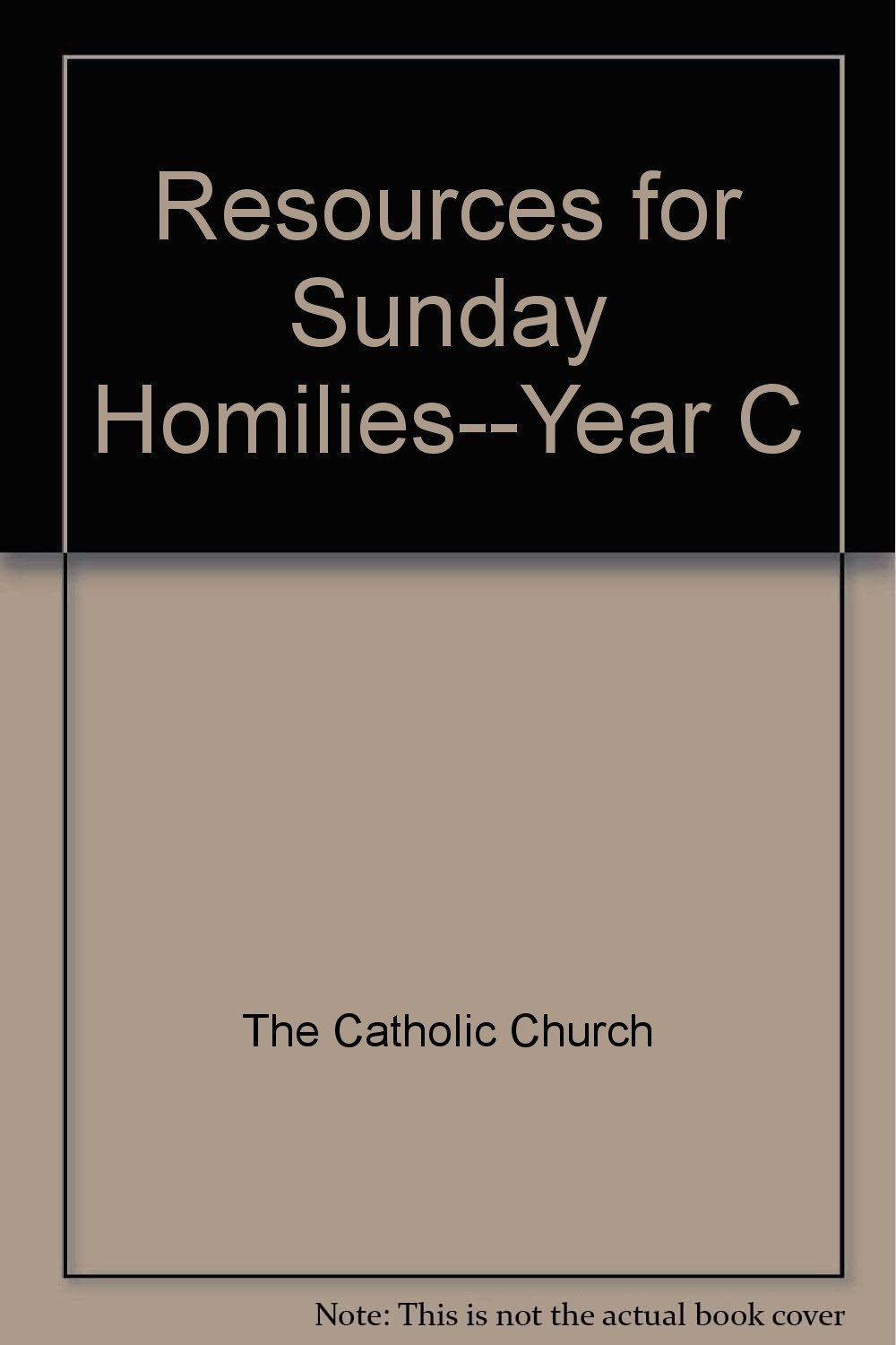Resources for Sunday Homilies--Year C: 9780889970595: Amazon com: Books
