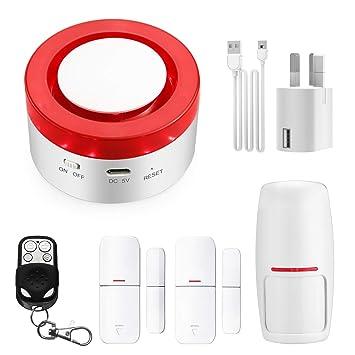 Hacevida Sistema de Alarma para el hogar, WiFi Inteligente ...