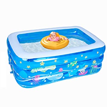 Amazon.com: Piscina hinchable, gruesa para bebé, para ...