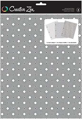American Crafts Coloring Folder Creative Zen Geometric 3 Piece 375668