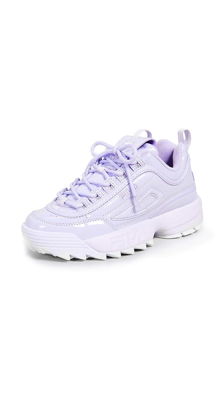 purplec Fila Womens White Disruptor II Premium Sneakers