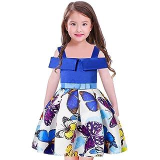 Byjia Children dress Ragazze Abiti Farfalla Bambini Festa Bowknot Principessa Gonna. 100-160