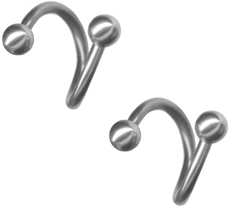 Amazon.com: Pair of 16 gauge Curved Barbells-4 sizes- Steel Short ...