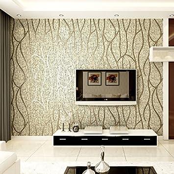 Reyqing 3d Dreidimensionale Relief Modernen Vliestapete Fernseher Hintergrund Wand Papier Tief Druck Dick Linien Mandel Tapete Nur Amazon De Baumarkt
