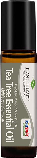 Plant Therapy Tea Tree Essential Oil 100% Pure, Pre-Diluted Roll-On, Natural