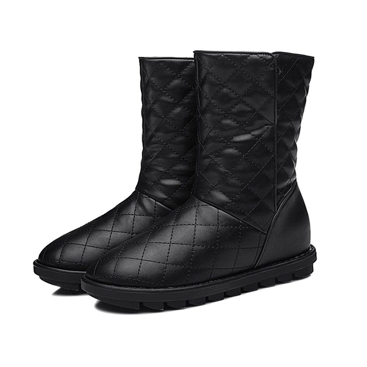 Fashionback Women's Casual Solid Simple Snow Boots