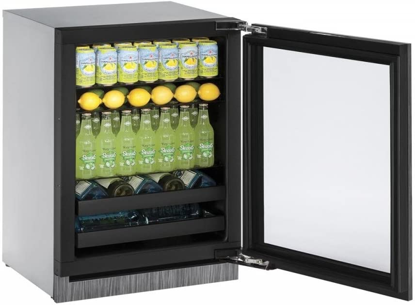"U-Line U3024BEVINT00A Built-in Beverage Center, 24"", Integrated"