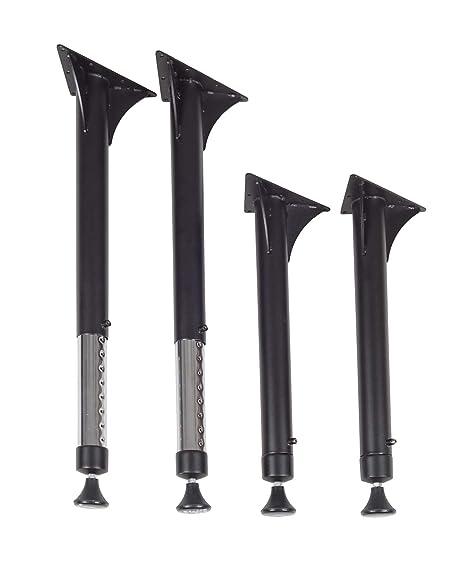 Amazon.com: Regency Kee Pierna ajustable, color negro y ...