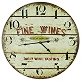 Large 23″ Wood Wall Clock – Fine Wines, Daily Tastings Review