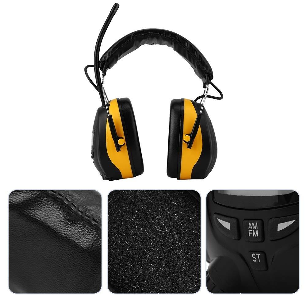Ohrenschützer Gehörschutz Elektronischer NRR 28dB LCD Display AM FM Radio