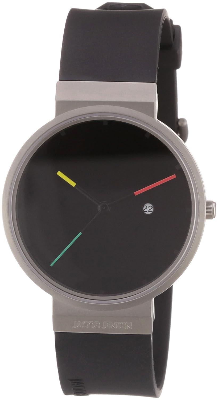 Jacob Jensen Reloj Analógico para Hombre de Cuarzo con Correa en Caucho 32640