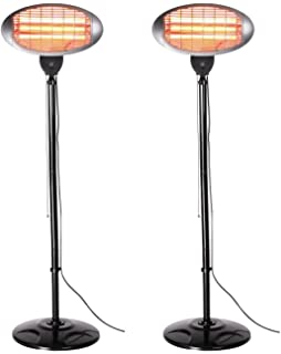 Patio Heaters Variation (Set Of 2 Black Free Standing Heaters)