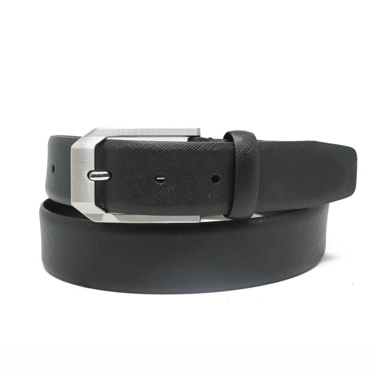 Color Safe on Clothing Riverside Park Mens Textured Leather Belt Italian Leather