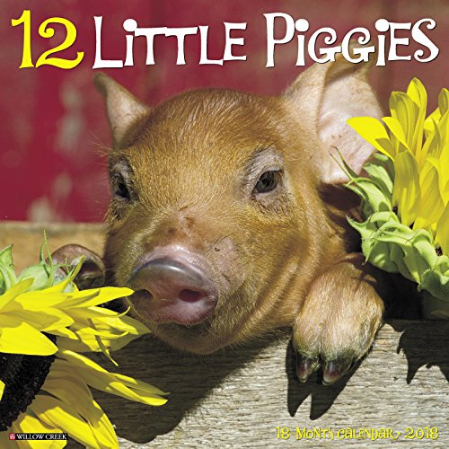 12 Little Piggies 2018 Wall Calendar