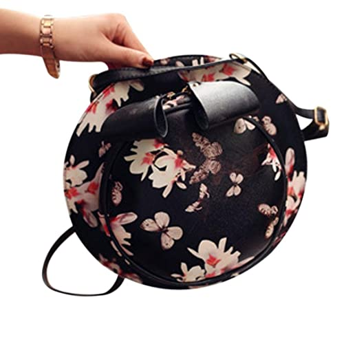 dbe0bcb319b4 Amazon.com: Egmy Cute Girl's Shoulder Bag Small Round Saika Bowknot ...