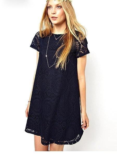purchase cheap 87cf1 09efc Sommerkleider Damen Elegant Für Mollige Kurz Spitzenkleid ...