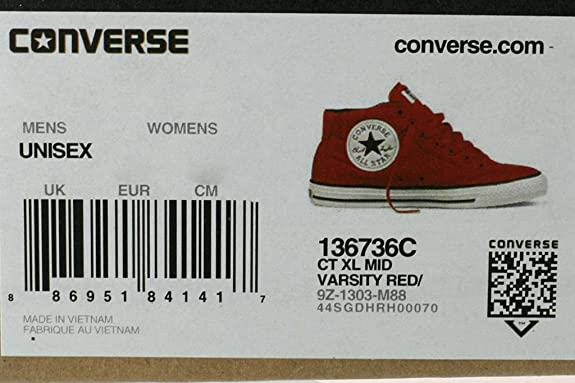 converse chuck taylor all star xl mid