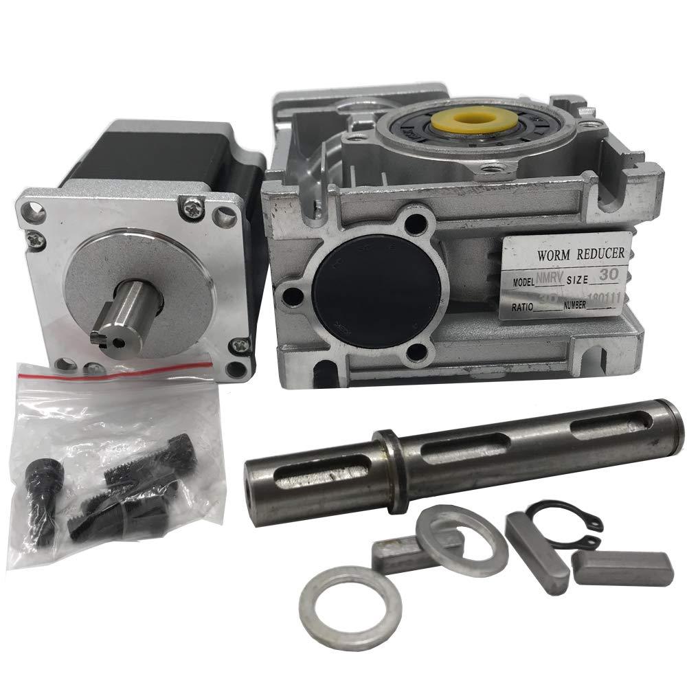 Worm Gear Stepper Motor Geared Ratio 20:1 Nema23 Stepper Motor 4 leads 3A 1.8 Degree for CNC DIY Router