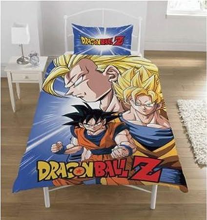 Copripiumino Dragon Ball.Dragon Ball Z Set Copripiumino Policotone Multi Singolo Amazon