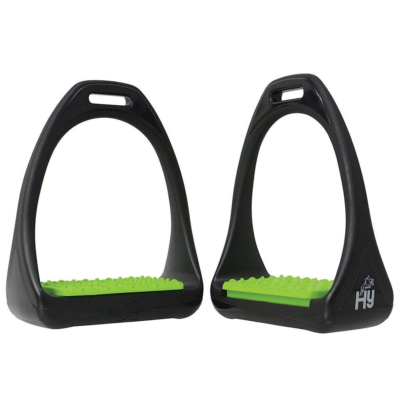 HY Equestrian Hyjump Compositi Reflex /étriers color/és avec marches Vert Vif Cheval