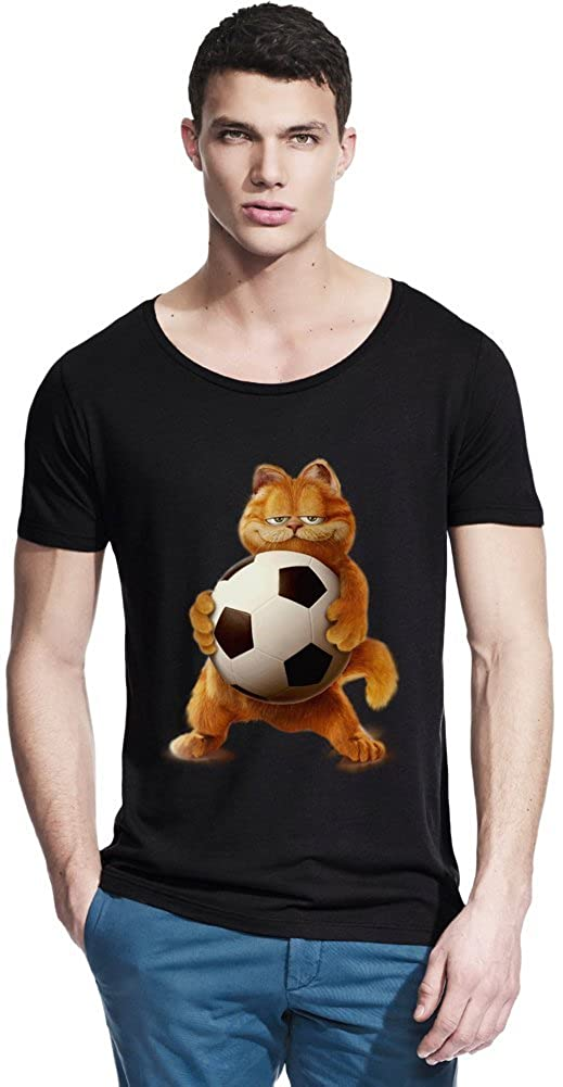 6a18cdd83b3e Garfield Wanna Play Football Bamboo Wide Neck T-shirt X-Large: Amazon.ca:  Clothing & Accessories