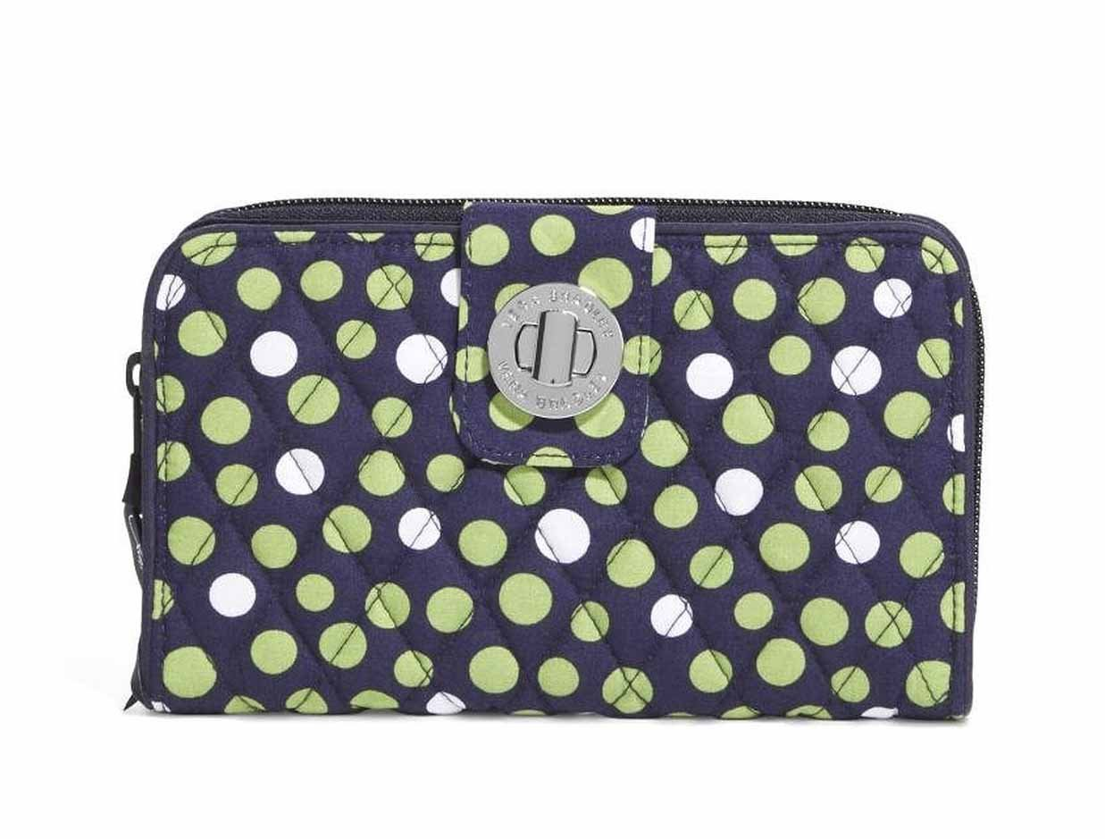 Vera BradleyレディースTurn Lock Wallet B00OH4KEPQ Lucky Dots Lucky Dots