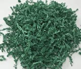 Green 1LB - Crinkle Cut Paper Shred Filler for Gift Wrapping & Basket Filling | Colors of Rainbow