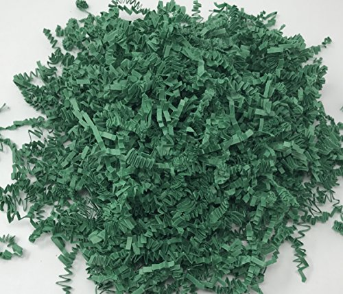 Green 1LB - Crinkle Cut Paper Shred Filler for Gift Wrapping & Basket Filling   Colors of Rainbow by Momoka's Apron