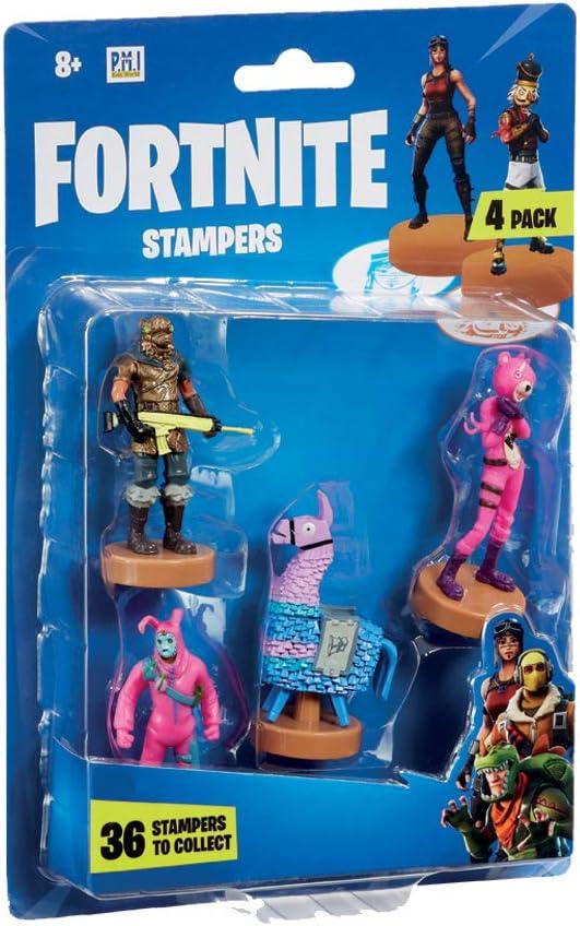 Fortnite FRT24000 - Sellos (4 unidades, serie 1, caracteres enviados al azar), multicolor , color/modelo surtido: Amazon.es: Juguetes y juegos