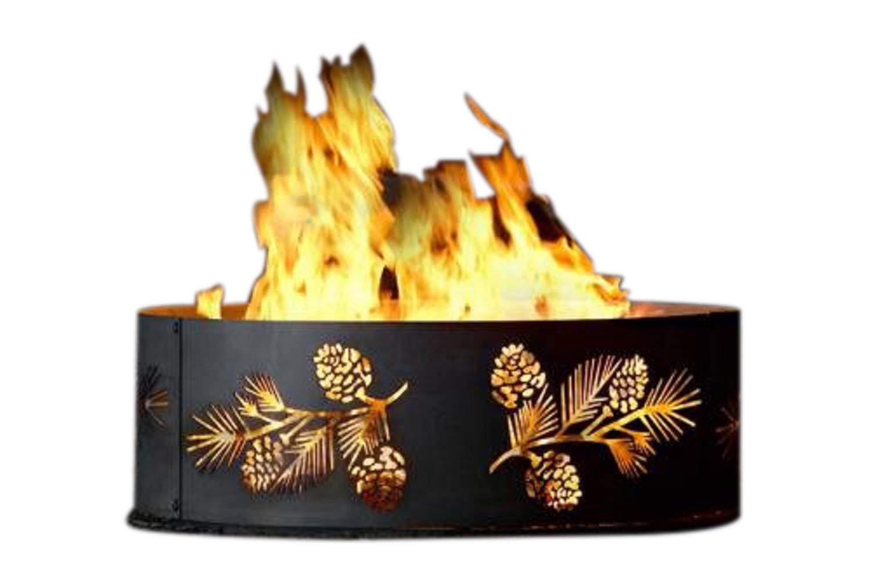 P&D Metal Works PBFR00938 Fire Ring, Pine Bough