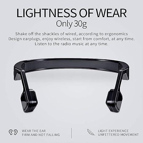 LYF Auricular Inalámbrico De Bluetooth De La Conducción del Hueso Inteligente Que Cancela El Ruido del Deporte Auriculares Que Cuelgan El Auricular ...
