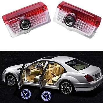 BSVLIA Car Door Projector Light 2 PCS 2 Pack Auto Logo Welcome Shadow Lamp LED Car Door Courtesy Ghost Lights