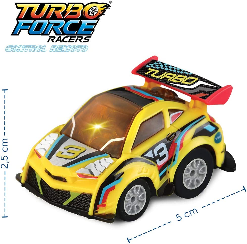 1Turbo Force Racer Circuit with Mini Car Rechargeable Remote Control 3480-517522 Colour VTech- Turbo Race Track