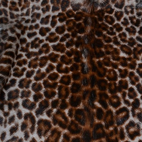- Genuine Hair- on Hide Goat Skin Leather Pelt Leopard Print #1 Double Face Black Back