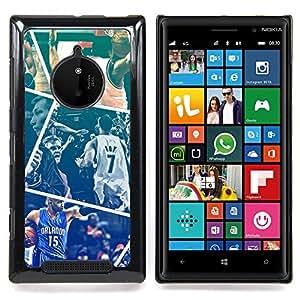 - Basketball - - Cubierta del caso de impacto con el patr??n Art Designs FOR Nokia Lumia 830 Queen Pattern